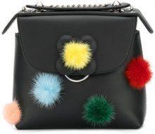 Fendi - Zaino con pompon - women - Leather/Mink Fur - OS - BLACK
