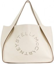 Stella McCartney - Tote con logo Stella - women - Polyurethane - One Size - Color carne & neutri