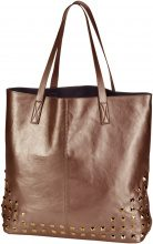 Borsa shopper con borchie (Arancione) - bpc bonprix collection