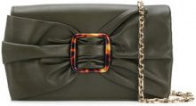 Casadei - Clutch con fiocco - women - Calf Leather/PVC/Kid Leather - OS - Verde