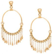 Chloé - round shaped earings - women - Brass - OS - Metallizzato