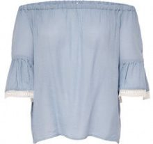 ONLY Off Shoulder 3/4 Sleeved Top Women Blue