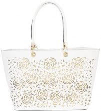 Christian Siriano - embossed tote bag - women - Polyester - OS - WHITE