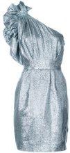 Stella McCartney - one-shoulder belted dress - women - Silk/Polyester/Viscose - 38, 40 - Metallizzato