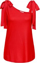 Top in jersey con spalline larghe (Rosso) - BODYFLIRT