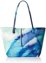 Desigual Bols_blue Palms Capri Donna Borse a spalla Turchese (Turquesa) 28x13x30 cm (B x H x T)