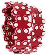 - Red Valentino - Braccialetto con borchie - women - pelle - Taglia Unica - di colore rosso