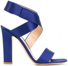 Gianvito Rossi - Sandali 'Rae' - women - Satin/Leather - 35, 36.5, 37, 38, 38.5, 39, 41 - BLUE