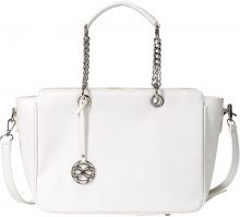Borsa con manici a catena (Bianco) - bpc bonprix collection