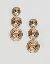 ASOS DESIGN - Orecchini pendenti oro con monetine - Oro