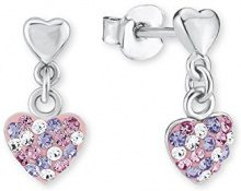 Principessa Lillifee bambini orecchini a forma di cuore in argento 925rodiato cristallo multicolore–2013169