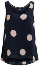 OBJECT COLLECTORS ITEM Dotted Sleeveless Top Women Blue