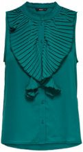 ONLY Frill Sleeveless Top Women Green