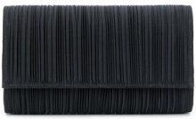 Casadei - Borsa Clutch plissettata - women - Satin/Nappa Leather - OS - BLACK