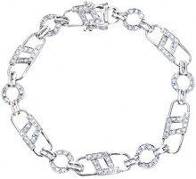 Naava Bracciale da Donna, Oro Bianco, Diamante
