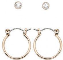 ONLY 2-pack Earrings Women Gold