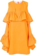 MSGM - sleeveless ruffle dress - women - Cotone/Spandex/Elastane - 42 - Giallo & arancio