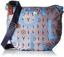 Oilily Groovy Shoulderbag Lhz - Borse a tracolla Donna, Grau (Grey), 12x32x36 cm (B x H T)