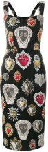 Dolce & Gabbana - Sacred Heart print dress - women - Silk/Spandex/Elastane - 46, 40 - BLACK