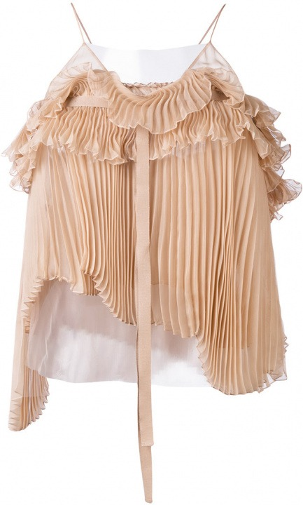Fibra Rochas 40 Women Pleated Sinteticaseta Color Top 6zxztrwF