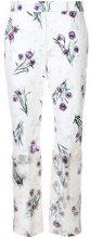 Max Mara - floral printed trousers - women - Cotone/Spandex/Elastane - 42, 44 - WHITE