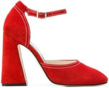 Nicole Saldaña - Pumps con tacco largo - women - Suede/Leather - 36, 38, 39, 40 - RED