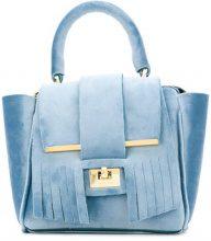 Alila - Borsa tote mini - women - Neoprene/Velvet - OS - BLUE