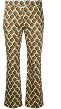 Incotex - patterned tailored trousers - women - Cotton/Spandex/Elastane/Cupro - 40, 42, 44, 46 - BROWN