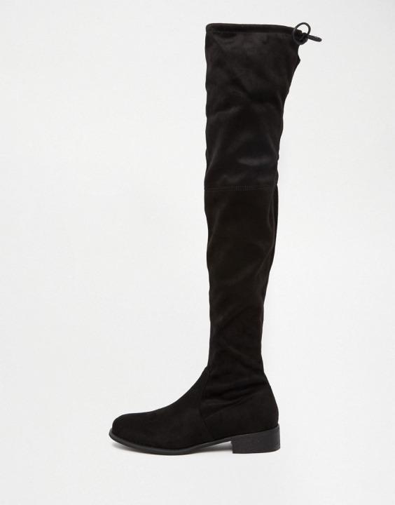 Elle - Stivali cuissard neri bassi  c606d26720d