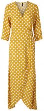 Y.A.S Dotted Wrap Maxi Dress Women Yellow