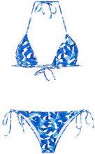 Isolda - printed bikini set - women - Polyamide - 42 - BLUE