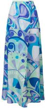 Emilio Pucci - Gonna maxi stampata - women - Cotton/Silk - 42 - MULTICOLOUR