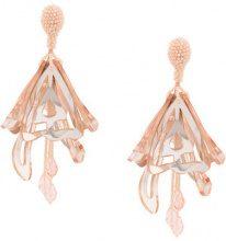 Oscar de la Renta - plastic butterfly-like earrings - women - Plastic/glass - OS - PINK & PURPLE