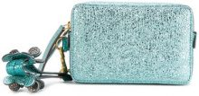 Anya Hindmarch - double zip clutch - women - Calf Leather - OS - BLUE