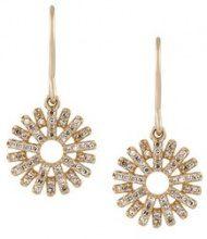 Astley Clarke - Orecchini pendenti 'Rising Sun' - women - 14kt Gold/Diamond - OS - METALLIC