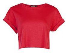 Maya T-shirt corta dolcevita di cotone con maniche