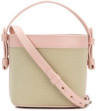 Nico Giani - Mini borsa a secchiello 'Adenia' - women - Cotton/Calf Leather - OS - NUDE & NEUTRALS