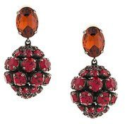 Marni - strass clip on earrings - women - glass/Brass - OS - RED