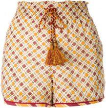 Talitha - Shorts a vita alta - women - Cotton/Silk - S, M - NUDE & NEUTRALS