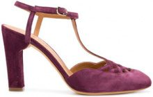 Chie Mihara - Pumps 'Jak' - women - Calf Suede/Leather/rubber - 37, 38, 39, 40 - PINK & PURPLE