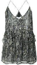 Iro - printed ruffled cami top - women - Viscose - 36, 38, 40, 42 - GREY