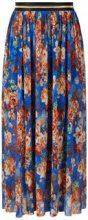 Y.A.S Floral Glitter Maxi Skirt Women Beige