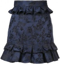 C/Meo - ruffled floral skirt - women - Polyester/Cotone - S, M, L - BLUE