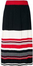 Chinti & Parker - striped pleated skirt - women - Cotone - XS, S, M, L, XL - Nero