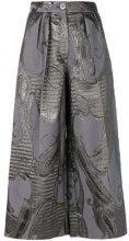 Talbot Runhof - Pantaloni 'Lisia' - women - Polyester/Acetate/Cupro/Polyamide - 34, 38, 44 - GREY