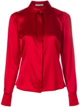 Styland - front fastened blouse - women - Silk/Spandex/Elastane - XS, S, M - RED