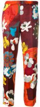 Prada - Pantaloni crop con stampa floreale - women - Silk/Viscose/Wool - 40, 42 - MULTICOLOUR