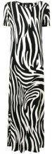 Max Mara - Vestito con stampa zebrata - women - Viscose/Spandex/Elastane - M - BLACK