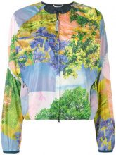 Adidas By Stella Mccartney - Giacca con stampa floreale - women - Polyester - XS, S - PINK & PURPLE
