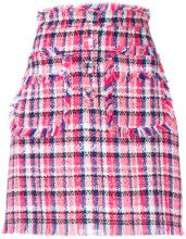 - MSGM - Gonna aderente in tweed - women - Polyamide/cotone/poliacrilico/PolyesterPolyester - 40 - di colore rosa